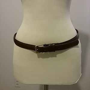 Brown leather belt by COACH
